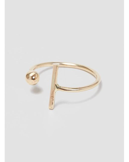 Alice Eden | Metallic Dot Dash Ring | Lyst