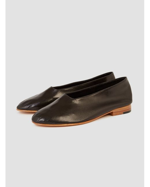 Martiniano | Brown Black Leather Glove Flats | Lyst