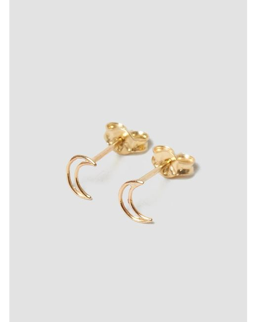 Grace Lee | Metallic Whimsy Moon Earrings | Lyst