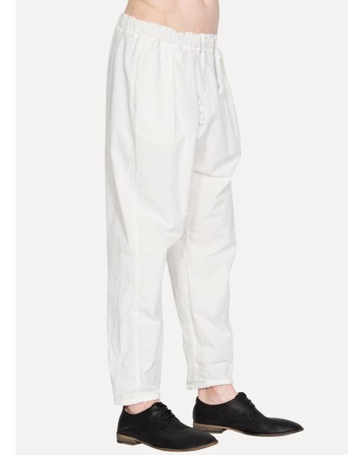 Casey casey Twill Pants in White for Men | Lyst