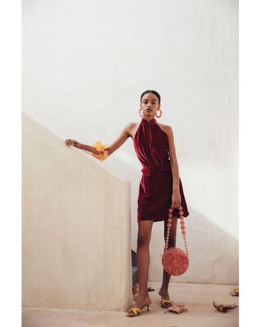 Cult Gaia - Red Rose Dress - Lyst