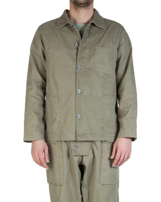 Nigel Cabourn - Lybro Mixed Field Jacket Nam Green for Men - Lyst