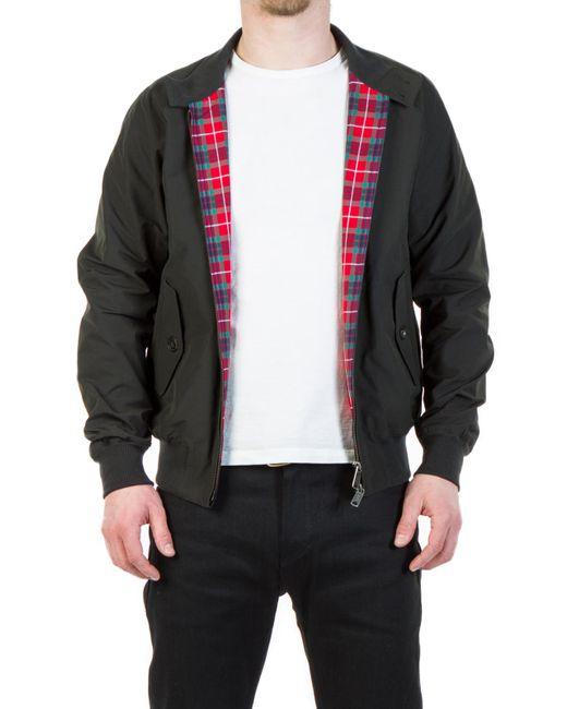 Baracuta - G9 Modern Classic Harrington Jacket Faded Black for Men - Lyst