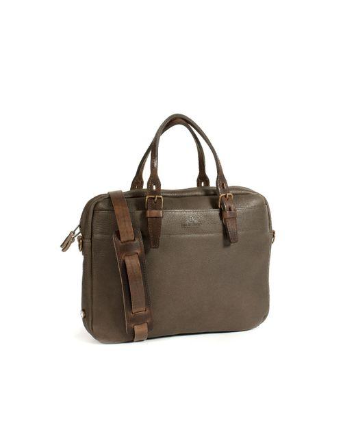 4bb44bfb60 Bleu De Chauffe - Brown Business Bag Folder Smog for Men - Lyst ...