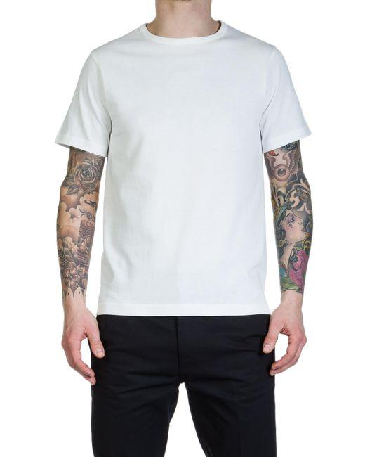 Merz B. Schwanen - 215 Army Shirt 1/4 White for Men - Lyst