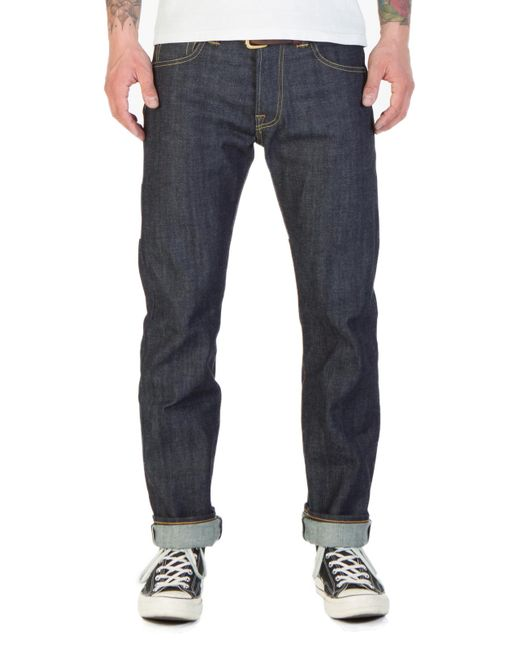 Edwin - X Blitz Ed-71 Red Listed Selvage Denim Blue Unwashed for Men - Lyst