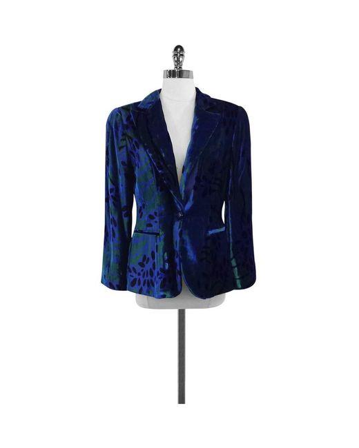 Giorgio Armani - Blue & Green Velvet Jacket - Lyst