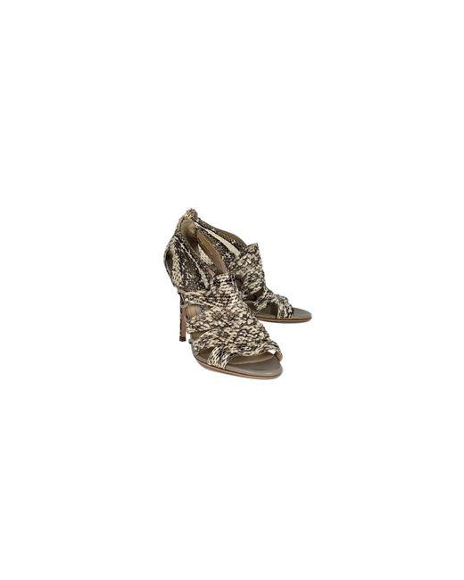 Jimmy Choo - Natural Snakekin Sandal Pumps - Lyst