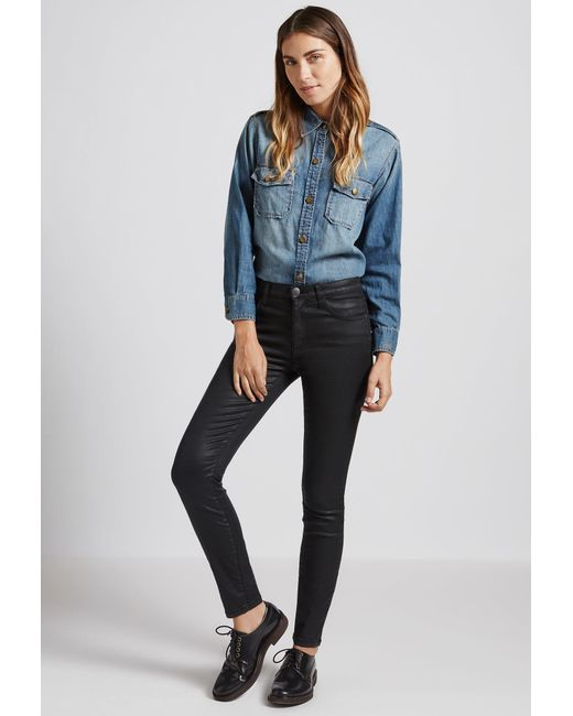 Current/Elliott - Black The High Waist Ankle Skinny Jean - Lyst
