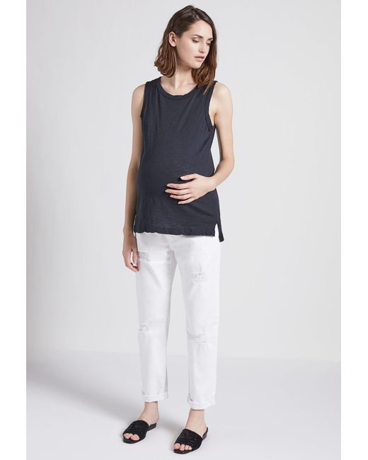 Current/Elliott - Blue The X Hatch New Boyfriend Maternity Jean - Lyst