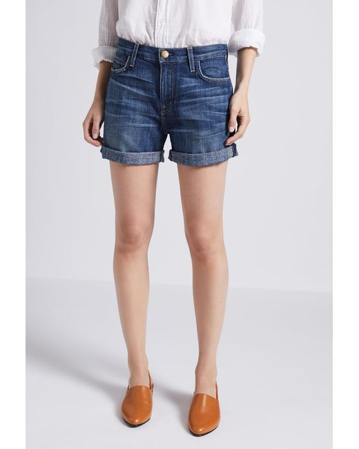 Current/Elliott - Blue The Boyfriend Rolled Short - Lyst