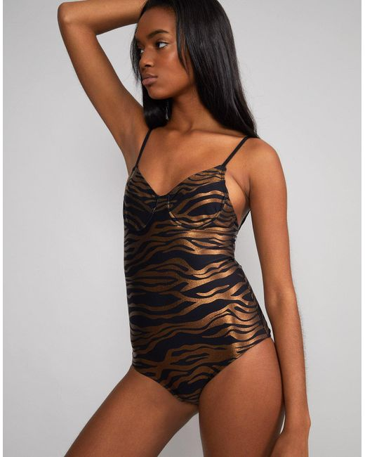 305071007a Cynthia Rowley - Multicolor Zebra Sandi Swimsuit - Extended Sizes Available  - Lyst ...