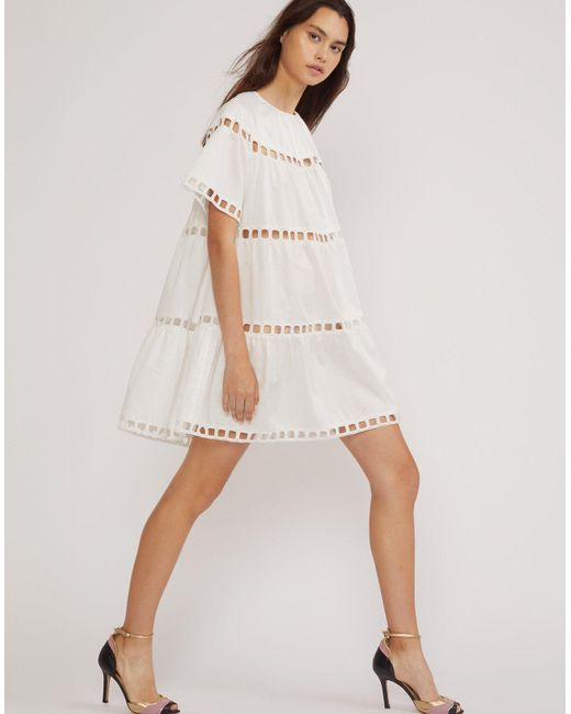 0a6ed15a81 Cynthia Rowley White Postcard Eyelet Dress in White - Lyst