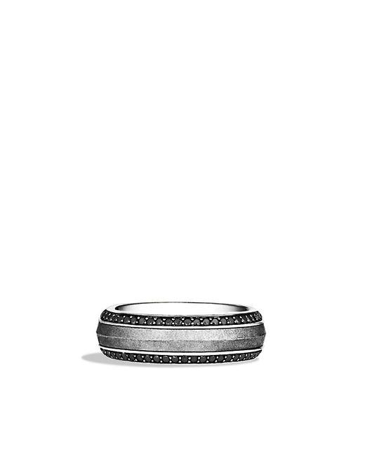 David Yurman | Meteorite Knife-edge Band Ring With Black Diamonds for Men | Lyst