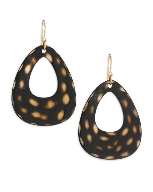 Nest | Brown Spotted Horn Open Teardrop Earrings | Lyst