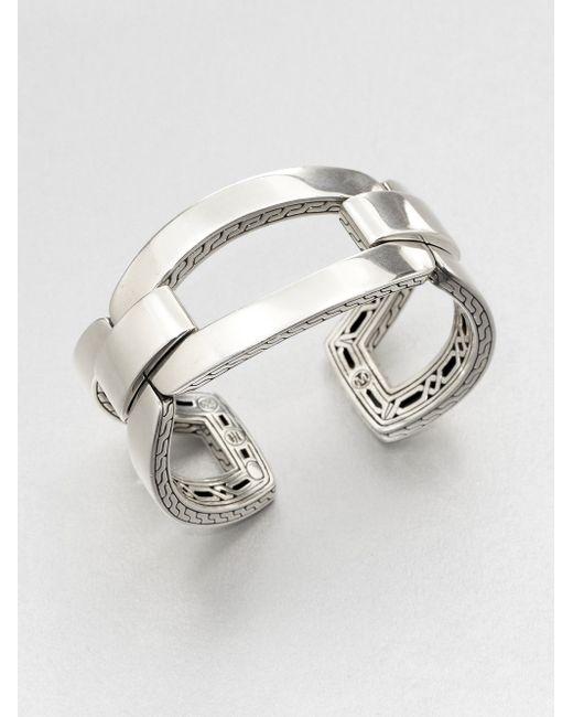 John Hardy | Metallic Sterling Silver Link Cuff Bracelet | Lyst