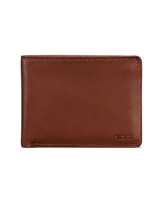 Tumi | Brown 'chambers' Leather Wallet for Men | Lyst