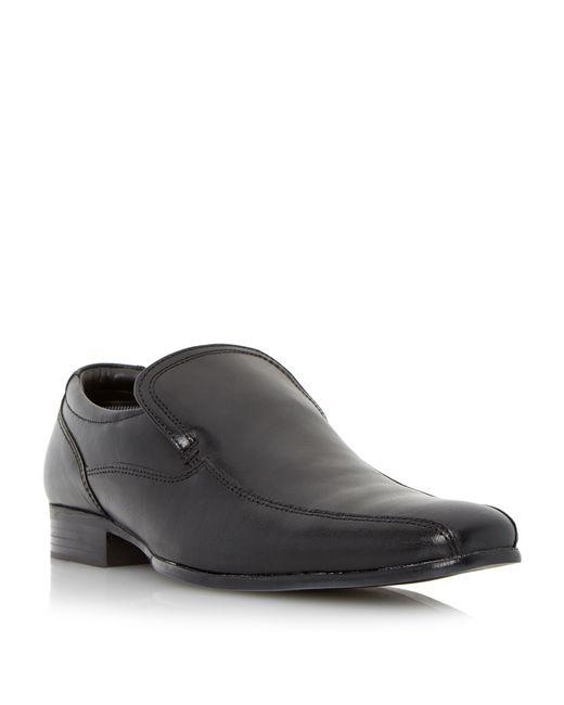 Howick   Black Recipe Leather Tramline Slip On Loafers for Men   Lyst