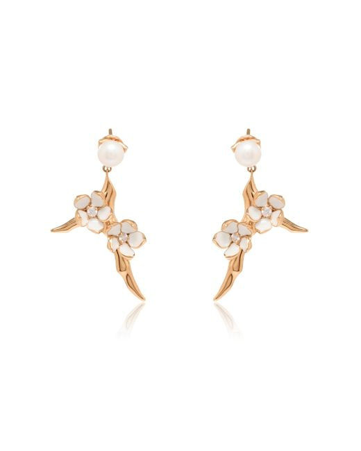 Shaun Leane | Metallic Rose Gold Small Branch Earrings | Lyst