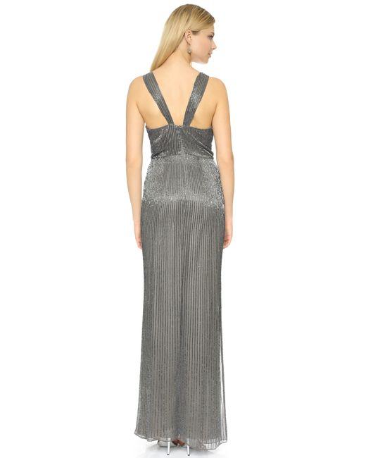 Parker | Gray Black Monarch Silk Gown - Grey | Lyst