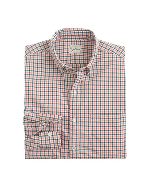 J.Crew | Purple Slim Secret Wash Shirt In Tattersall for Men | Lyst