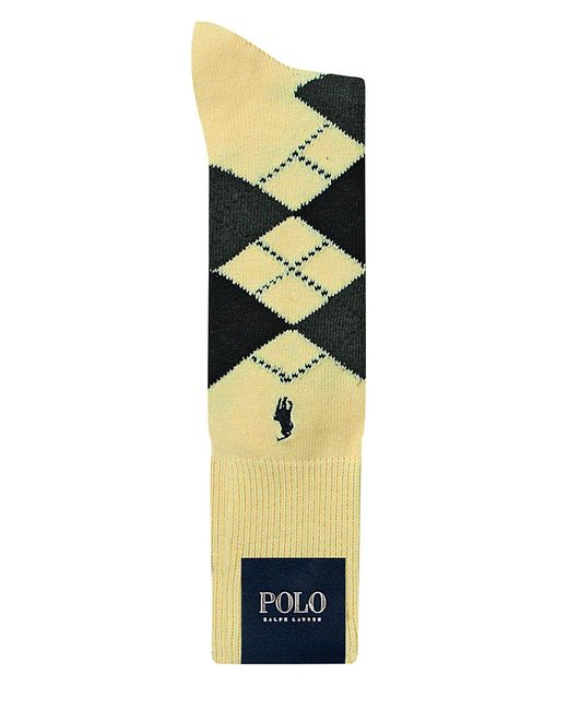 Polo Ralph Lauren | Yellow Argyle Socks for Men | Lyst