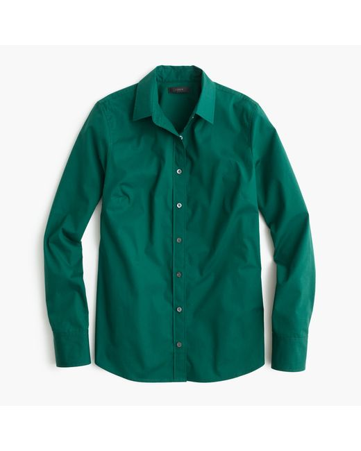 J.Crew | Green Stretch Perfect Shirt | Lyst