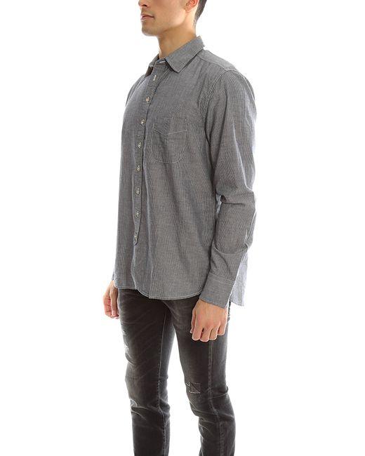 Rag bone 3 4 placket shirt in gray for men lyst for Rag and bone mens shirts sale