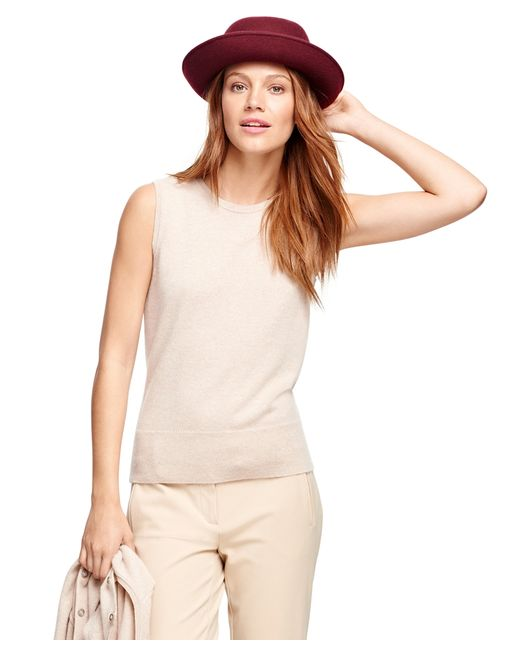 Brooks Brothers | Natural Cashmere Sleeveless Shell | Lyst