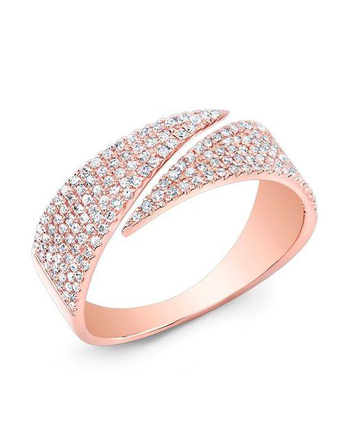 Anne Sisteron - Pink 14kt Rose Gold Diamond Full Spike Wrap Ring - Lyst