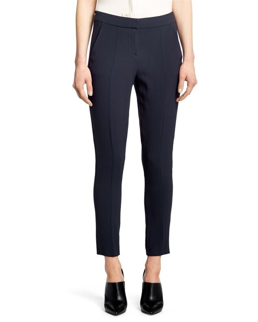 HUGO | Blue 'hemine' | Stretch Crepe Dress Pants | Lyst
