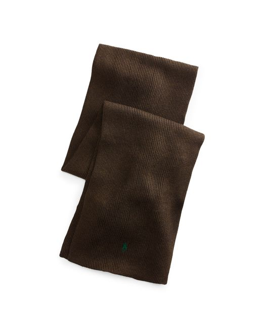 Polo Ralph Lauren | Brown Rib-knit Wool Scarf for Men | Lyst