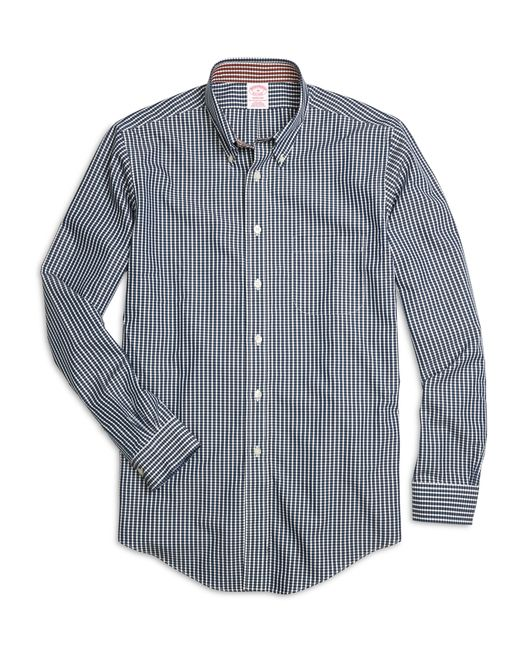 Brooks Brothers | Blue Non-iron Madison Fit Micro Check Sport Shirt for Men | Lyst