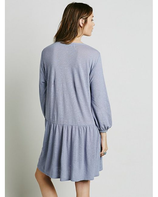 Free People | Blue Button Up Dress | Lyst