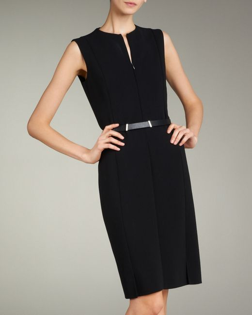 Akris | Black Zip-front Double-face Dress | Lyst