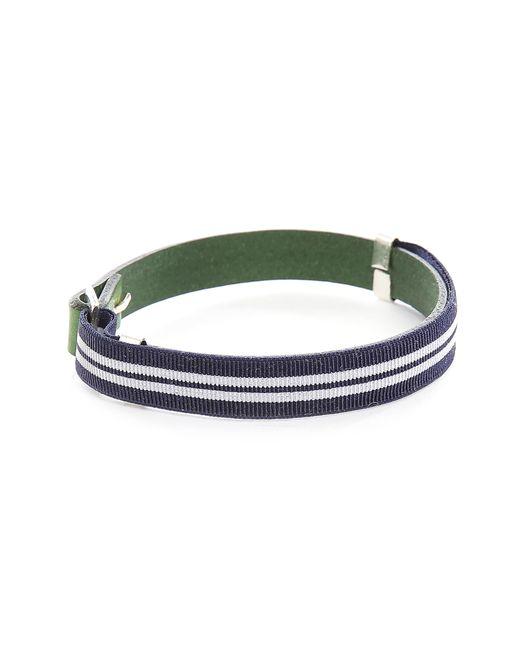 Gilbert Gilbert | Hen 13 Green Leather Adjustable Bracelet And Stretch Band for Men | Lyst