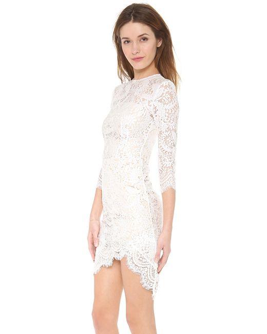 Lover   White Mia Asymmetric Dress   Lyst