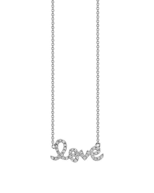 Sydney Evan | Metallic 14k Gold Diamond Love Pendant Necklace | Lyst