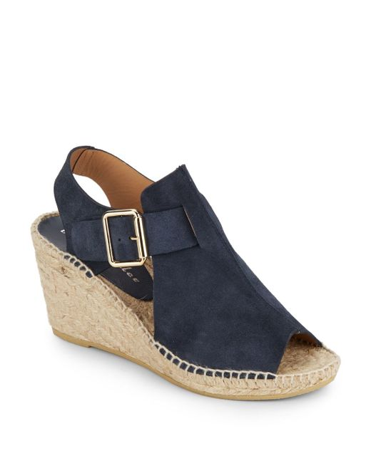 Bettye Muller | Blue Dawn Suede Wedge Espadrille Sandals | Lyst