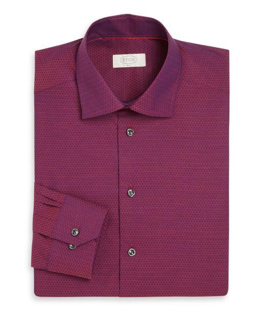 Eton Of Sweden York Slim Fit Dotted Twill Dress Shirt In