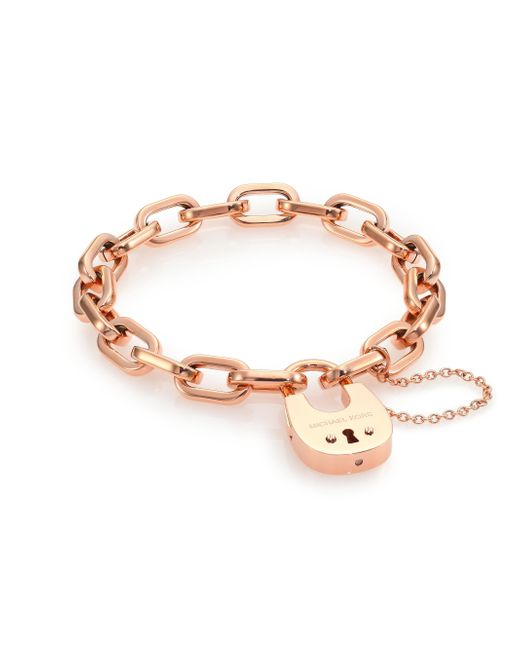 Michael Kors Cityscape Hardware Padlock Chain Bracelet