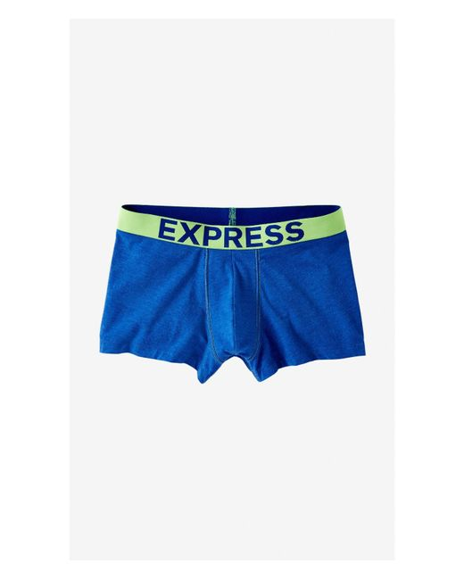 Express | Blue Color Block Heathered Knit Sport Trunk for Men | Lyst