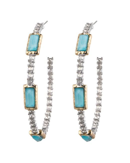 Alexis Bittar | Metallic Elements Gilded Muse D'Ore Amazonite & Crystal Pear Drop Earrings | Lyst