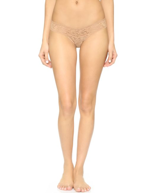 Hanky Panky | Natural Signature Lace Low Rise Thong | Lyst