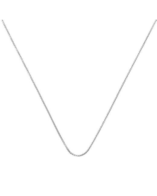 "Monica Vinader | Metallic Fine Oval Box Chain 18""/46cm | Lyst"