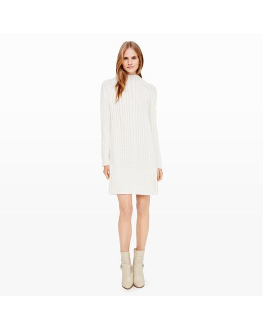 Club Monaco | White Simonya Cable-knit Dress | Lyst