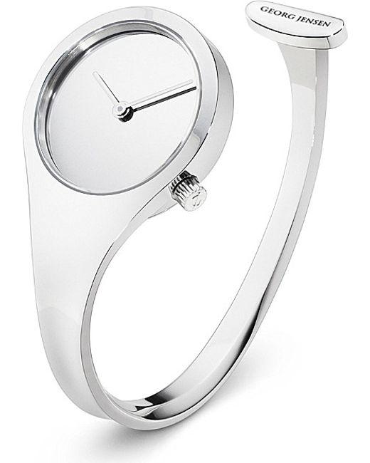 Georg Jensen | Metallic Vivianna Stainless Steel Bangle Watch 27mm, Women's, Size: L | Lyst