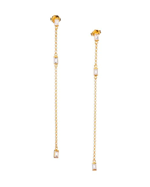 Jennifer Zeuner | Metallic Soleil White Sapphire Drop Earrings | Lyst