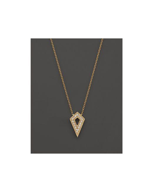 "Dana Rebecca   Metallic 14k Yellow Gold Jemma Morgan Necklace With Diamonds, 16""   Lyst"