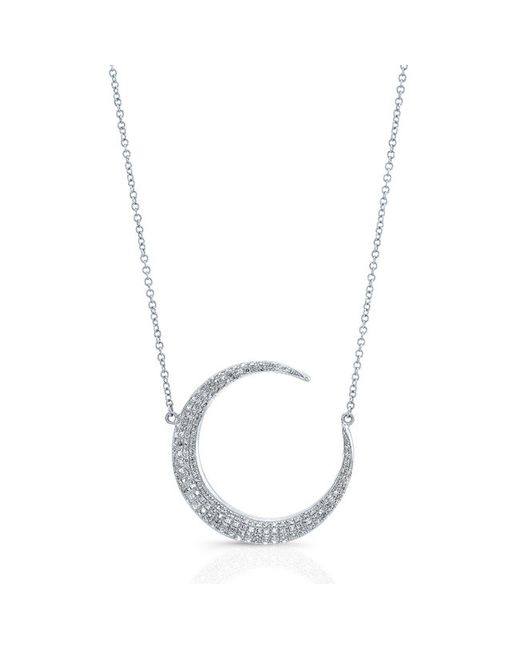 Anne Sisteron | Metallic 14kt White Gold Diamond Lunar Necklace | Lyst